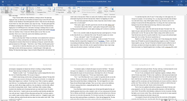 screen shot -- Charlie Sheldon, Adrift -- manuscript